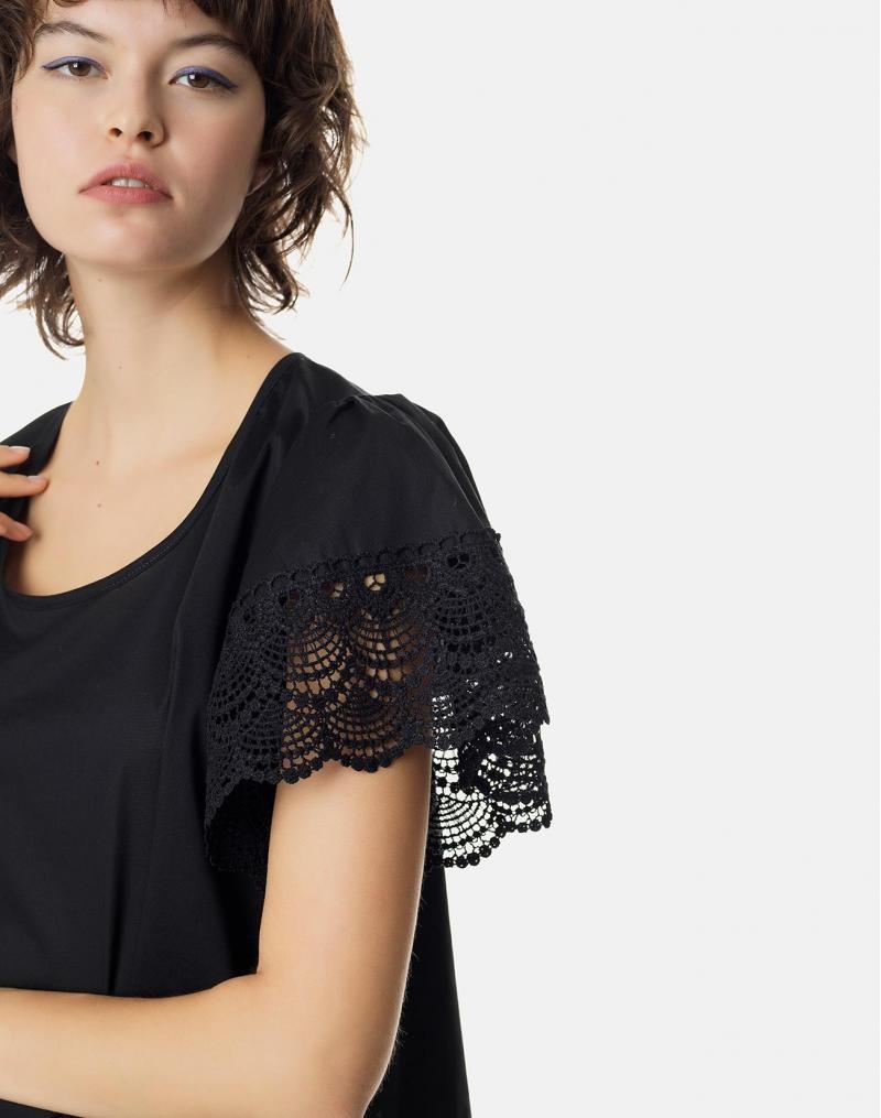 a8fc192c6f68 Η δαντέλα είναι μία από τις τάσεις της μόδας που προσφέρουν ένα πολύ θηλυκό  αποτέλεσμα. Η κοντομάνικη μπλούζα με δαντέλα στο μανίκι σε πολύ άνετη  γραμμή ...