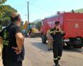Έμφραγμα στην Αθηνών - Λαμίας από φορτηγό που καίγεται