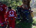 Αυτοκίνητο έπεσε σε χαράδρα στη Σκήτη Αγιάς στη Λάρισα