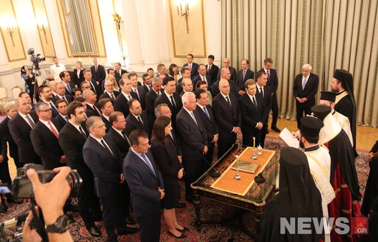 Η ορκωμοσία της νέας κυβέρνησης σε φωτογραφίες – News.gr