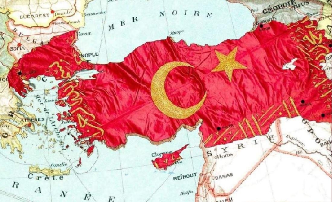 Ο νέος προκλητικός χάρτης της Τουρκίας που κυκλοφορεί στο διαδίκτυο