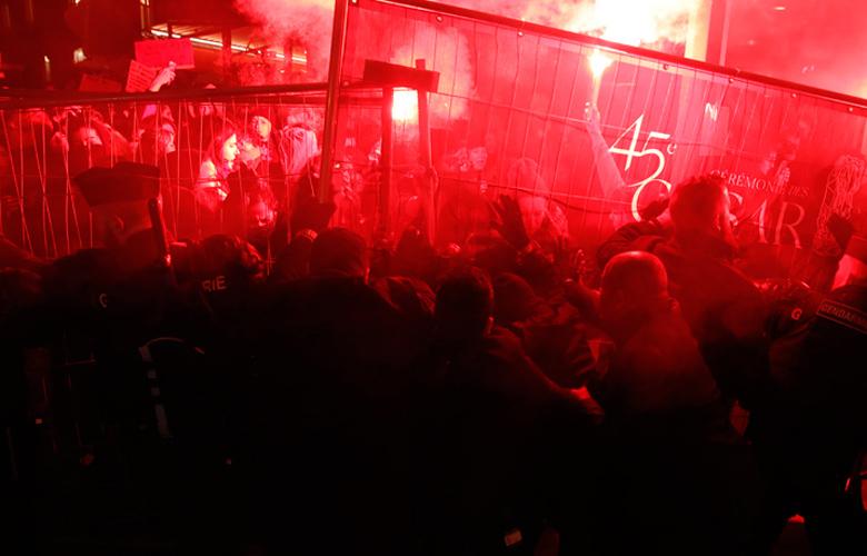 Βίαια επεισόδια στο Παρίσι πριν τη βράβευση ταινίας του Πολάνσκι