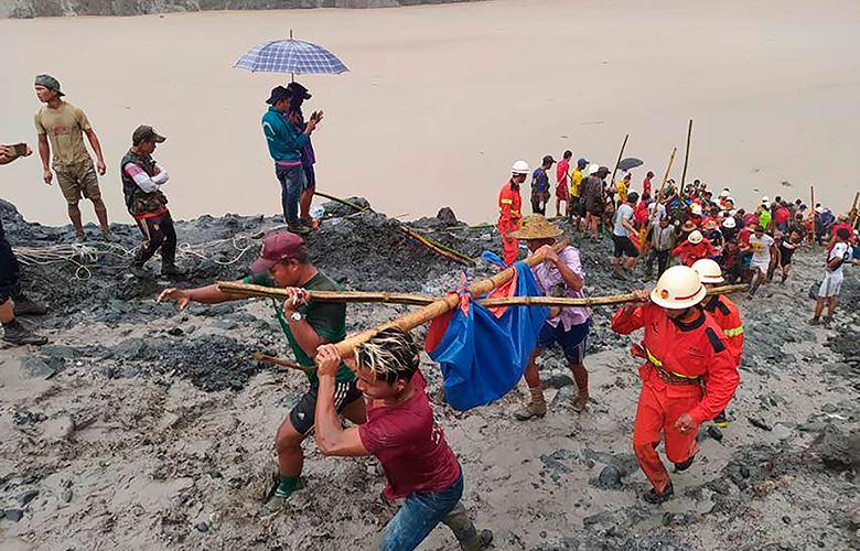 Πάνω από 160 νεκροί σε κατολίσθηση στη Μιανμάρ