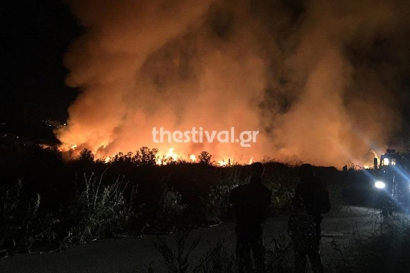 Φωτιά ξέσπασε στη ΒΙ.ΠΕ. της Θεσσαλονίκης