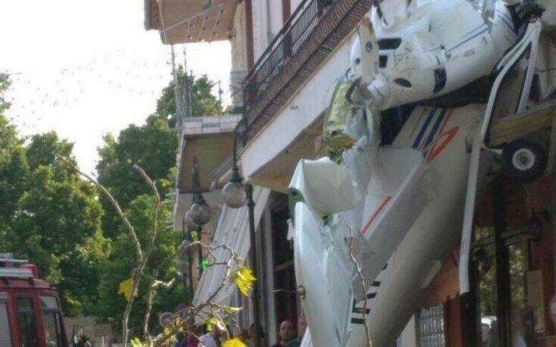 Οι πρώτες εικόνες από την πτώση μικρού αεροσκάφους στις Σέρρες