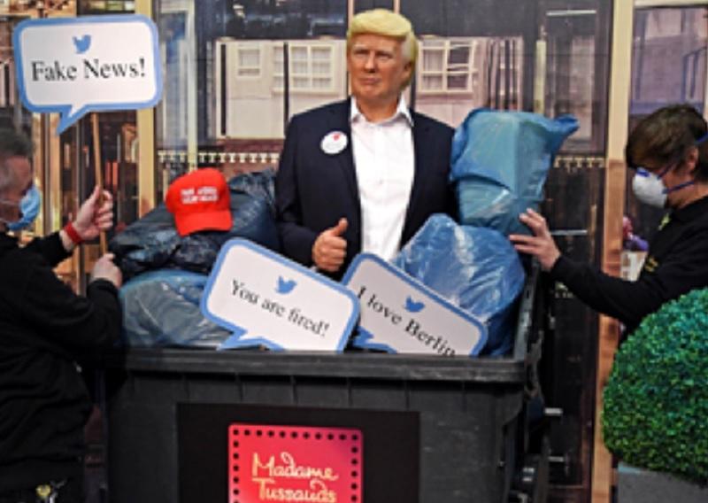 Το μουσείο Μαντάμ Τισό πέταξε στα σκουπίδια το κέρινο ομοίωμα του Τραμπ